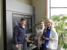 Mark, Kate and I at the Memorial Pegasus