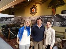 Myself, Mark and Kate at the Memorial Pegasus