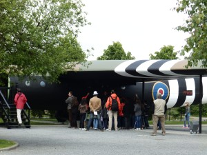A Horsa glider replica in the grounds of le Mémorial Pegasus