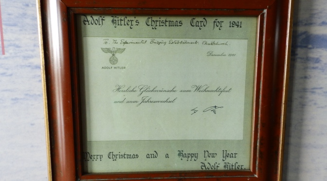 Le Mémorial Pegasus: Hitler's Christmas Card to Sir Donald Bailey