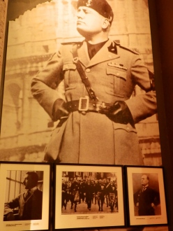 Photographs of Hitler in the first section of Mémorial de Caen