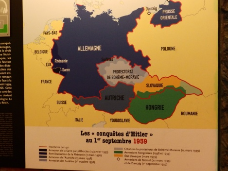 The areas of Europe that had been conquered by Hitler by 1st September 1939
