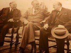 William Lyon Mackenzie King, Franklin D. Roosevelt and Winston Churchill