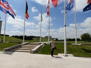 Kate outside Mémorial de Caen