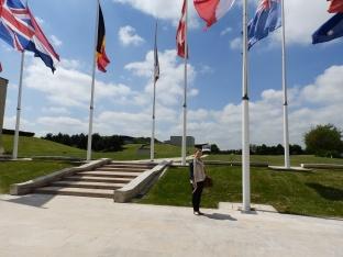 Kate outside Mémorial de Caen