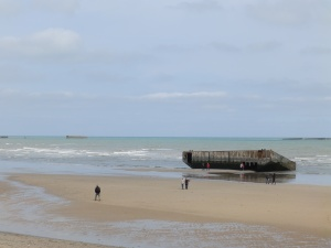 The remains of a Mulberry artificial port in Arromanches