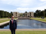 Arriving at the American Cemetery in Colleville-sur-Mer