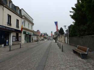 Driving through Courseulles-sur-Mer on the way to the Juno Beach Centre